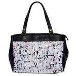 red, white and black pattern Office Handbags Front