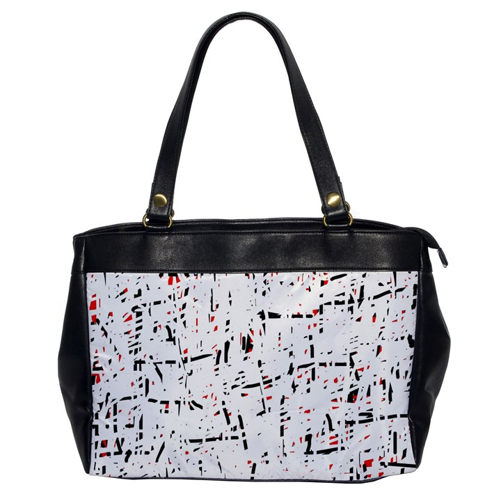 red, white and black pattern Office Handbags