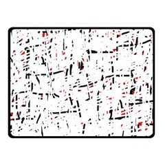Red, White And Black Pattern Fleece Blanket (small) by Valentinaart