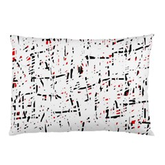 Red, White And Black Pattern Pillow Case (two Sides) by Valentinaart