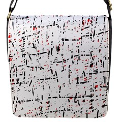 Red, White And Black Pattern Flap Messenger Bag (s) by Valentinaart