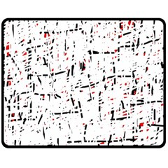 Red, White And Black Pattern Double Sided Fleece Blanket (medium)  by Valentinaart