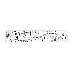 Red, White And Black Pattern Flano Scarf (mini) by Valentinaart