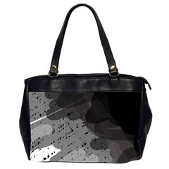 Black And Gray Pattern Office Handbags (2 Sides)  by Valentinaart