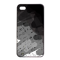 Black And Gray Pattern Apple Iphone 4/4s Seamless Case (black) by Valentinaart