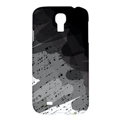 Black And Gray Pattern Samsung Galaxy S4 I9500/i9505 Hardshell Case by Valentinaart