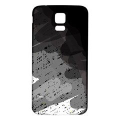 Black And Gray Pattern Samsung Galaxy S5 Back Case (white) by Valentinaart
