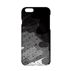 Black And Gray Pattern Apple Iphone 6/6s Hardshell Case by Valentinaart
