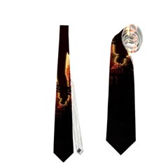 Dancing In The Night With Moon Nd Stars Neckties (one Side)  by FantasyWorld7