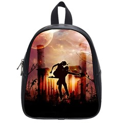 Dancing In The Night With Moon Nd Stars School Bags (small)  by FantasyWorld7