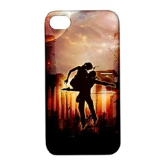 Dancing In The Night With Moon Nd Stars Apple Iphone 4/4s Hardshell Case With Stand by FantasyWorld7