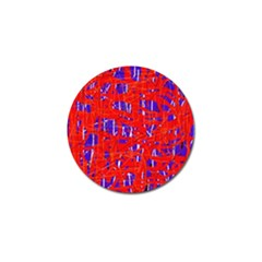Blue And Red Pattern Golf Ball Marker (4 Pack) by Valentinaart