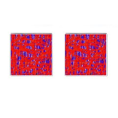 Blue And Red Pattern Cufflinks (square)