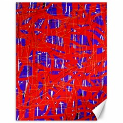 Blue And Red Pattern Canvas 12  X 16   by Valentinaart