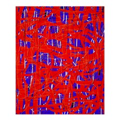 Blue And Red Pattern Shower Curtain 60  X 72  (medium)  by Valentinaart