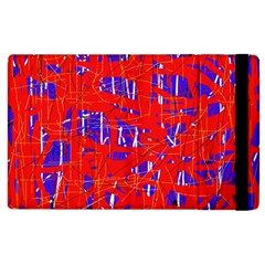 Blue And Red Pattern Apple Ipad 3/4 Flip Case by Valentinaart