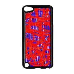 Blue And Red Pattern Apple Ipod Touch 5 Case (black)