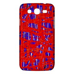 Blue And Red Pattern Samsung Galaxy Mega 5 8 I9152 Hardshell Case  by Valentinaart