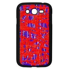 Blue And Red Pattern Samsung Galaxy Grand Duos I9082 Case (black) by Valentinaart