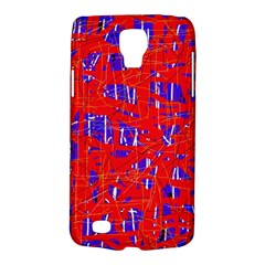 Blue And Red Pattern Galaxy S4 Active by Valentinaart