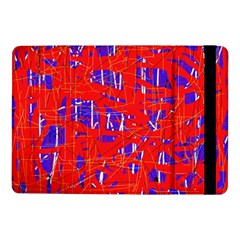 Blue And Red Pattern Samsung Galaxy Tab Pro 10 1  Flip Case by Valentinaart