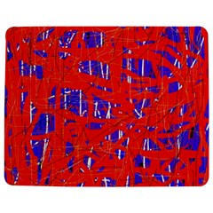 Blue And Red Pattern Jigsaw Puzzle Photo Stand (rectangular) by Valentinaart