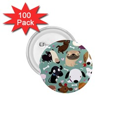 Dog Pattern 1 75  Buttons (100 Pack)  by Mjdaluz