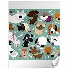 Dog Pattern Canvas 12  X 16   by Mjdaluz