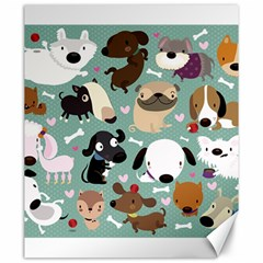 Dog Pattern Canvas 20  X 24   by Mjdaluz