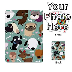 Dog Pattern Multi Purpose Cards (rectangle)  by Mjdaluz