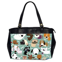 Dog Pattern Office Handbags (2 Sides)  by Mjdaluz