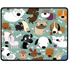 Dog Pattern Fleece Blanket (medium)  by Mjdaluz