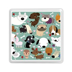 Dog Pattern Memory Card Reader (square)  by Mjdaluz