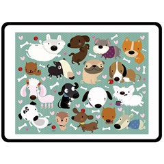 Dog Pattern Double Sided Fleece Blanket (large)  by Mjdaluz