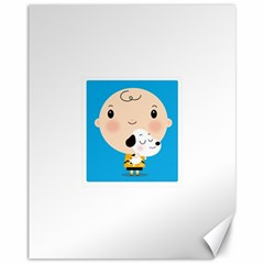 Snoopy Canvas 11  X 14   by Mjdaluz