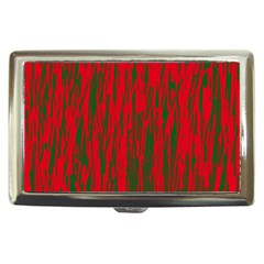 Red And Green Pattern Cigarette Money Cases by Valentinaart
