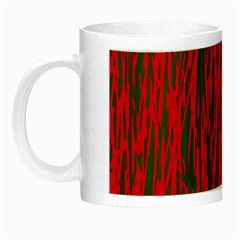 Red And Green Pattern Night Luminous Mugs by Valentinaart