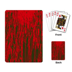 Red And Green Pattern Playing Card by Valentinaart