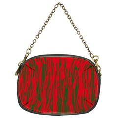 Red And Green Pattern Chain Purses (two Sides)  by Valentinaart