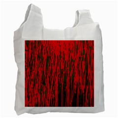 Red And Green Pattern Recycle Bag (two Side)  by Valentinaart