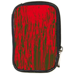 Red And Green Pattern Compact Camera Cases by Valentinaart
