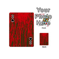 Red And Green Pattern Playing Cards 54 (mini)  by Valentinaart