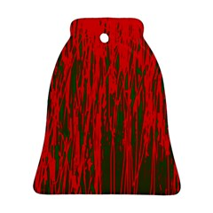 Red And Green Pattern Ornament (bell)  by Valentinaart
