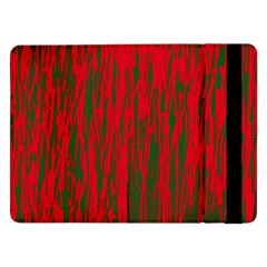 Red And Green Pattern Samsung Galaxy Tab Pro 12 2  Flip Case by Valentinaart