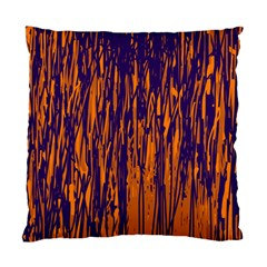 Blue And Orange Pattern Standard Cushion Case (two Sides) by Valentinaart