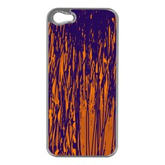 Blue And Orange Pattern Apple Iphone 5 Case (silver) by Valentinaart