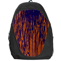 Blue And Orange Pattern Backpack Bag by Valentinaart