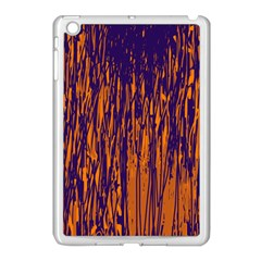 Blue And Orange Pattern Apple Ipad Mini Case (white) by Valentinaart