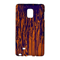 Blue And Orange Pattern Galaxy Note Edge by Valentinaart