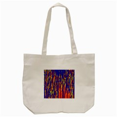 Orange, Blue And Yellow Pattern Tote Bag (cream) by Valentinaart